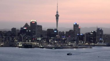 Auckland downtown skyline — Stock Video