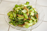Stir fried Chinese cabbage — Stock Photo