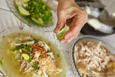 Soto Indonesian chicken soup — Stock Photo