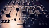 Black sound mixer controller — Foto Stock