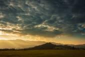 Beautiful sunrise over the mountains  — Stock Photo