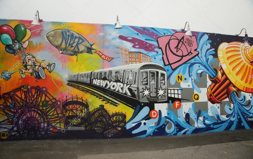 Arte mural en la nueva atracci n del arte callejero coney for Precio de murales pared