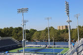 Completely renovated court number 4 at the Billie Jean King National Tennis Center ready for US Open tournament — Stock Photo