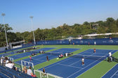 Renovated practice courts at the Billie Jean King National Tennis Center ready for US Open tournament — Stock Photo