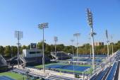 Renovated courts at the Billie Jean King National Tennis Center ready for US Open tournament — Stock Photo