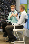 Tennis legend and Grand Slam Champion Billie Jean King during press conference at Billie Jean King National Tennis Center — Stock Photo