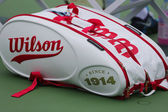 Wilson 100 Year Tour tennis bag at US Open 2014 at Billie Jean King National Tennis Center — Stock Photo
