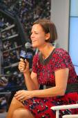 Three times Grand Slam champion and Olympic Champion Lindsay Davenport during press conference at Billie Jean King National Tennis Center — Stock Photo