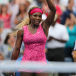Grand Slam champion Serena Williams celebrates victory after  third round match at US Open 2014 — Stock Photo #52429371
