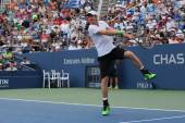 Grand Slam Champion Andy Murray during third round match at US Open 2014 — Stock Photo