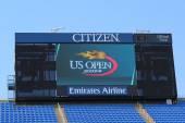 Arthur Ashe Stadium scoreboard at Billie Jean King National Tennis Center — Stock Photo