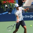 Постер, плакат: Six times Grand Slam champion Novak Djokovic practices for US Open 2014