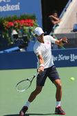 Six times Grand Slam champion Novak Djokovic practices for US Open 2014 — Stock Photo