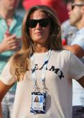 Andy Murray's girlfriend Kim Sears at US Open 2014 — Stock Photo