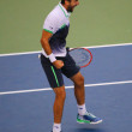 US Open 2014 champion Marin Cilic during final match against Kei Nishikori at Billie Jean King National Tennis Center — Foto Stock