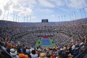 Arthur Ashe Stadium  during the opening ceremony of the US Open 2014 women final at Billie Jean King National Tennis Center — Foto de Stock