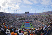 Arthur Ashe Stadium  during the opening ceremony of the US Open 2014 women final at Billie Jean King National Tennis Center — Stok fotoğraf