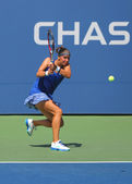 US Open 2014 girls junior finalist Anhelina Kalinina from Ukraine during final match at the Billie Jean King National Tennis Center — Stockfoto