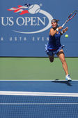 US Open 2014 girls junior finalist Anhelina Kalinina from Ukraine during final match at the Billie Jean King National Tennis Center — Stock Photo