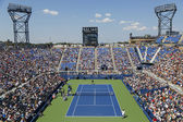 Aerial view of the Armstrong Stadium  during US Open 2014 first round match between Andy Murray and Robin Haase — Stock Photo