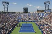 Aerial view of the Armstrong Stadium  during US Open 2014 first round match between Andy Murray and Robin Haase — Stockfoto