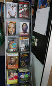 Tennis books on display at Billie Jean King Tennis Center during US Open 2014 — Stock Photo