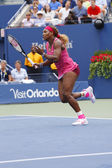 Grand Slam champion Serena Williams during third round match at US Open 2014 against Varvara Lepchenko — Stock Photo