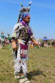 Unidentified Native American at the NYC Pow Wow in Brooklyn — 图库照片