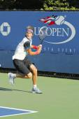 Professional tennis player Alexander Zverev from Germany during qualifying match at US Open 2014 — Foto de Stock
