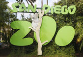 San Diego Zoo sign and logo in Balboa Park — Stockfoto