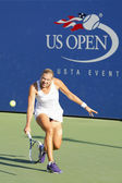 Professional tennis player Kaia Kanepi from Estonia during second round match at US Open 2014 — Stock fotografie