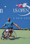 Tennis player Lucas Sithole from South Africa during US Open 2014 wheelchair quad singles match — Photo