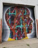 Art mural section d'Astoria dans reines — Photo