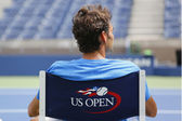 Seventeen times Grand Slam champion Roger Federer during practice for US Open 2014 — Stock Photo