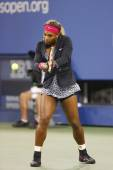 Seventeen times Grand Slam champion Serena Williams before first round match against Taylor Townsend at US Open 2014 — Foto de Stock