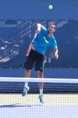 Professional tennis player Marin Cilic practices for US Open 2014 — Stock Photo