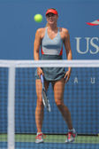 Five times Grand Slam champion Mariya Sharapova during third round match at US Open 2014 against Caroline Wozniacki — Foto de Stock