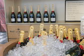 Moet and Chandon champagne presented at the National Tennis Center during US Open 2014 — Stock Photo