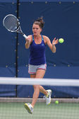 Professional tennis player Agnieszka Radwanska  practices for US Open 2014 — Foto de Stock