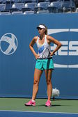 Five times Grand Slam champion Maria Sharapova practices for US Open 2014 — Stok fotoğraf