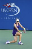 Grand Slam Champion Samantha Stosur during US Open 2014 second round match against  Kaia Kanepi — Foto de Stock