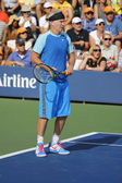 Seven times Grand Slam champion John McEnroe during US Open 2014 champions exhibition match — Foto de Stock
