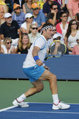 Grand Slam champion Pat Cash during US Open 2014 champions exhibition match — Stock Photo