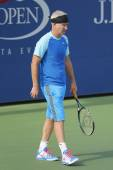 Seven times Grand Slam champion John McEnroe during US Open 2014 champions exhibition match — Stok fotoğraf