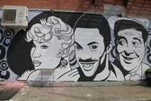 Mural art at East Williamsburg in Brooklyn — Stock Photo