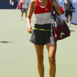 Five times Grand Slam champion Maria Sharapova after  practice for US Open 2014 at Billie Jean King National Tennis Center — Stock Photo #55938725