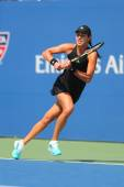 Grand Slam champion Ana Ivanovich during first round match at US Open 2014 against Alison Riske — Stock Photo