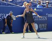 Professional tennis player Agnieszka Radwanska during first round match at US Open 2014 — Stok fotoğraf