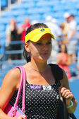 Professional tennis player Agnieszka Radwanska after first round match at US Open 2014 — Stock Photo