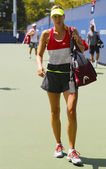 Five times Grand Slam champion Maria Sharapova after  practice for US Open 2014 at Billie Jean King National Tennis Center — Foto Stock